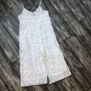NWT - Pinkyotto White Linen Capri Jumpsuit